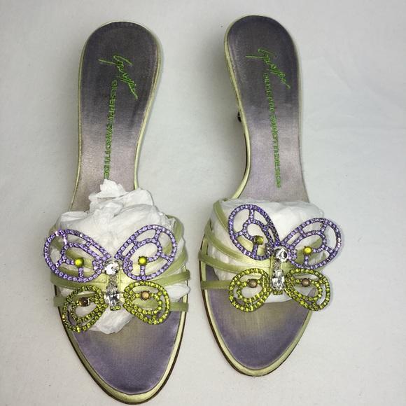 de70792a60440 Giuseppe Zanotti Shoes - Giuseppe Zanotti Crystal Butterfly Kitten Heels